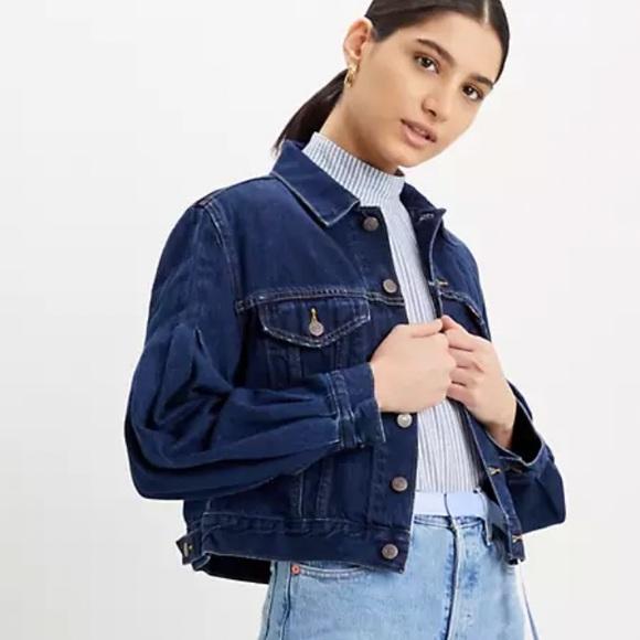 Levi's full sleeve trucker denim jean jacket blue
